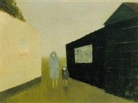 twee figuren in een straatje by metten koornstra
