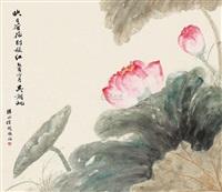 荷花图 (landscape) by xu yue
