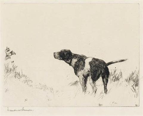 pointer dog by frank weston benson