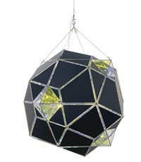 black and yellow double polyhedron lamp by olafur eliasson