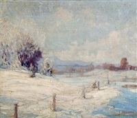 winter landscape by carl hoerman