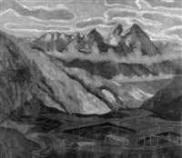 gebirgslandschaft by hans böhler