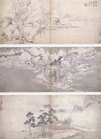 landscape after anicent masters by luo xuan