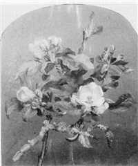 still life with apple blossoms by william moore davis