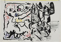 untitled by jean paul riopelle and pierre alechinsky
