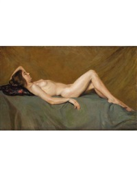 nudo di donna by gyula mihaly