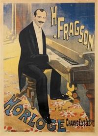 h. fragson, horloge by emile tabouret