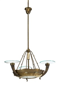 lampada a sospensione con struttura by tomaso buzzi
