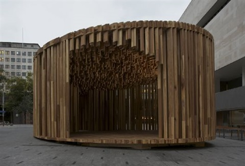 sclera pavilion for size matter project by david adjaye