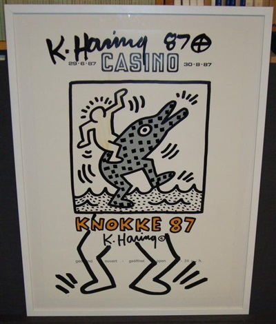 affiche by keith haring
