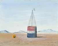 landscape with a buoy by kamil lhotak