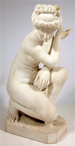 a kneeling nude by continental school 19