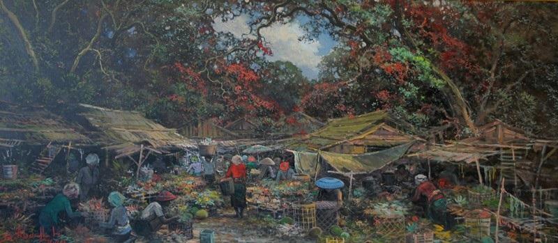 balinese market by sudjono abdullah