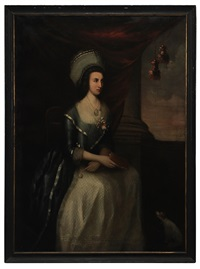 portrait said to be of elizabeth price cox by benjamin west