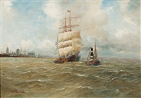 ships off cuxhaven by alfred jensen