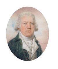 brustbild eines herrn vor rosa wolkenhintergrund by louis ami arlaud-jurine