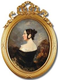 portrait de la comtesse d'agoult, née marie de flavigny by camille joseph etienne roqueplan