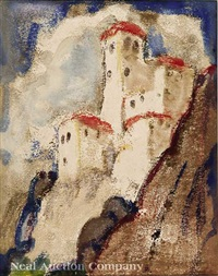 cuenca castle, spain by marie atkinson hull