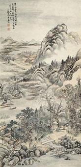 翠木苍藤 立轴 设色纸本 by jiang jun