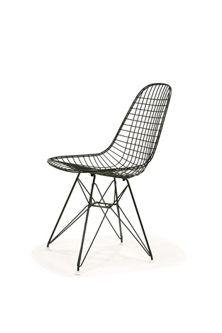Merveilleux Wire Mesh Chair (or Eiffel Tower) (model Dkr) By Charles And Ray