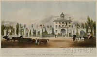 a view of the mansion of the late lord timothy dexter in high street, newbury port by john henry bufford
