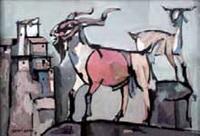 cabras con cuenca al fondo by josé paredes jardiel