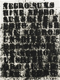 study for negro sunshine #41 by glenn ligon