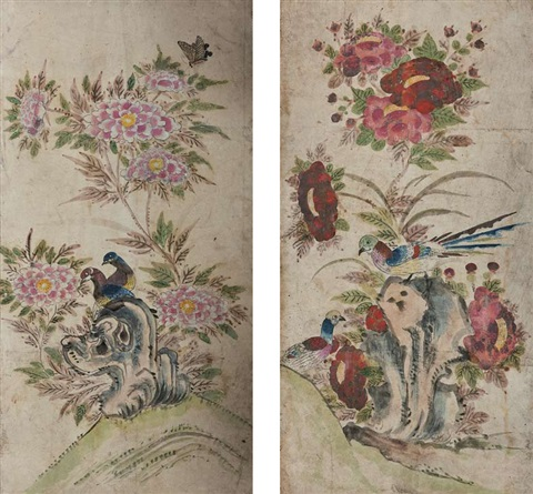 minwha birds and flowers by anonymous korean