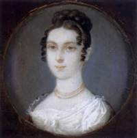 bildnis einer jungen dame mit löckchenfrisur by carl de bourdon hummel