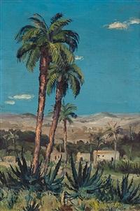 südländische landschaft by josef steib