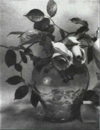 rose still life by christine fletcher