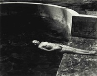 nude floating by edward weston