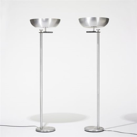 flip top floor lamps pair by kurt versen