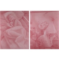 e.t. and grandma (diptych) by gerald davis