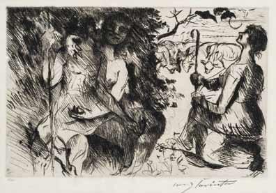 daphnis und chloe by lovis corinth
