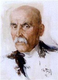 portrait of a famous ukrainian by michail nikolaievitch dobronravov