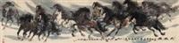 大风图 (gallop) by xu yong