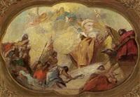 scena di omaggio a un re o sacerdote by gregorio guglielmi