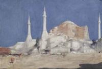 minarets; the hagia sophia, istanbul by marius bauer
