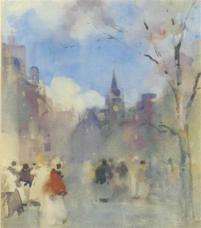 figures on the royal mile edinburgh with st giles cathedral in the distance by james watterston herald