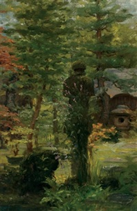 statue in the garden by john wycliffe lewis forster