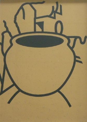 fern pot by patrick caulfield