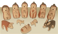 jemez nativity (set of 11) by mary ellen toya