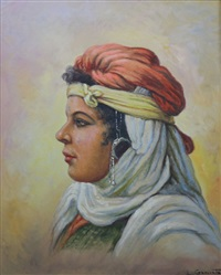 portrait d'oriental au turban by louis granata