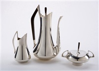 circa 70 coffee service (3 works) by donald colflesh