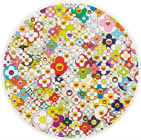 super flat first love flower by takashi murakami