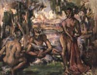 figures in landscape by norman macgeorge