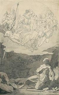 die vision der jungfrau von orléans by edward jakob von steinle