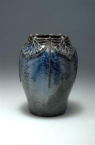 vase mit silbermontierung by glatigny
