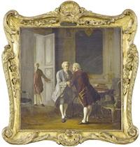 interieur mit galanter szene by eduardo zamacois y zabala